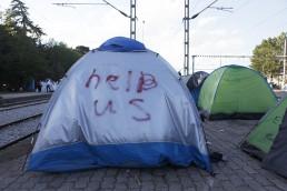 Quechua tent, Idomeni refugee Camp, Greece, May 2016.